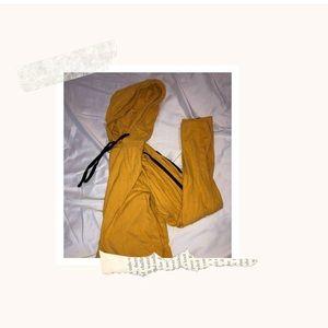 Tops - Yellow Black striped Sweatshirt